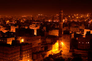 Night in Old Sana'a City by prespective