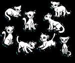 Free Kitten Linearts