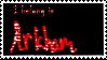 Arkham Asylum Stamp by RoseOfTheSea