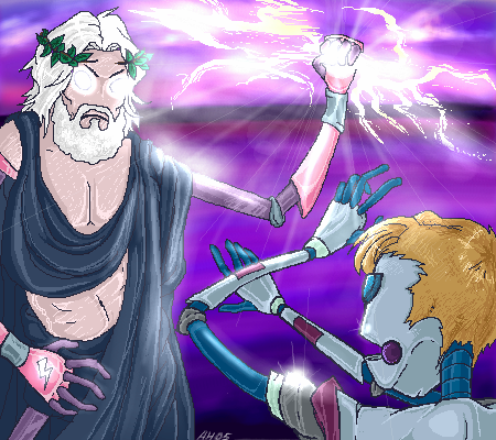 Battle of the Gods? by Amb0rg