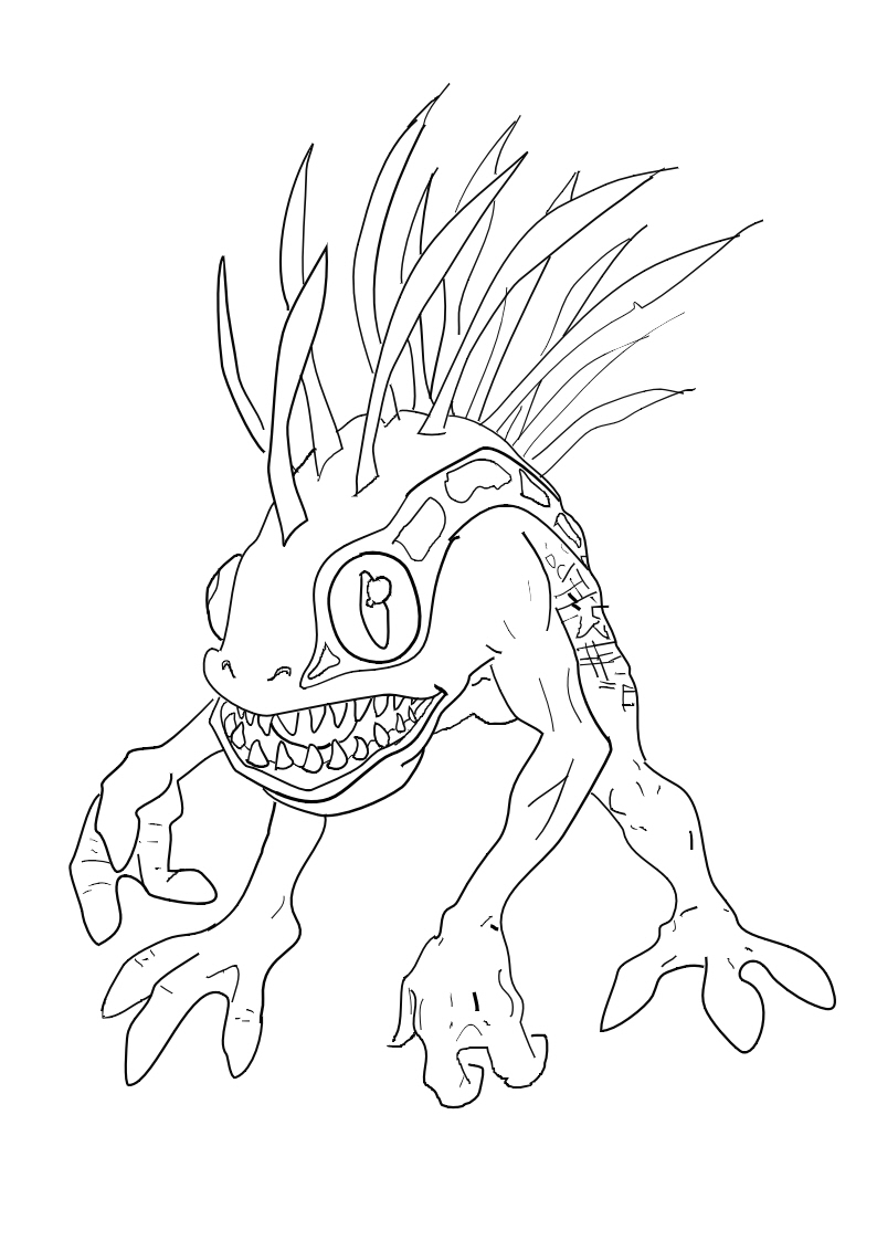 warcraft coloring pages - murloc drawing wow by daybreakgenesis on deviantart