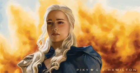 Daenerys Targaryen - Fanart from Season 3 by Piky