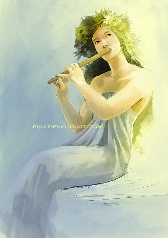 Flute Speedpainting by Piky