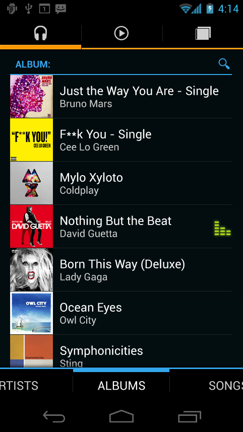 Android Music A... Android Music App