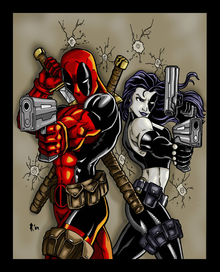 Deadpool And Domino By Jrascoe On DeviantArt