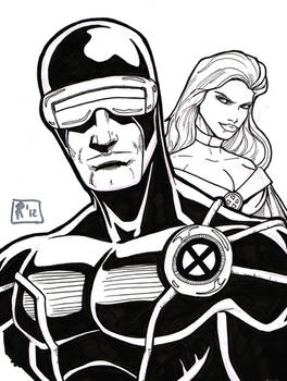 Cyclops and Emma sketch