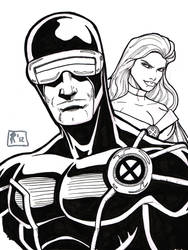 Cyclops and Emma sketch
