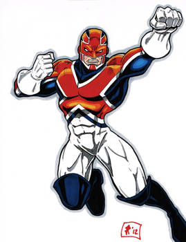 Captain Britain drawing 4-17-12