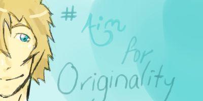Aim For Originality Icon by AshmielTana