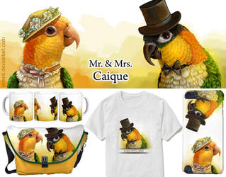 Mr. and Mrs. Caique by emmil