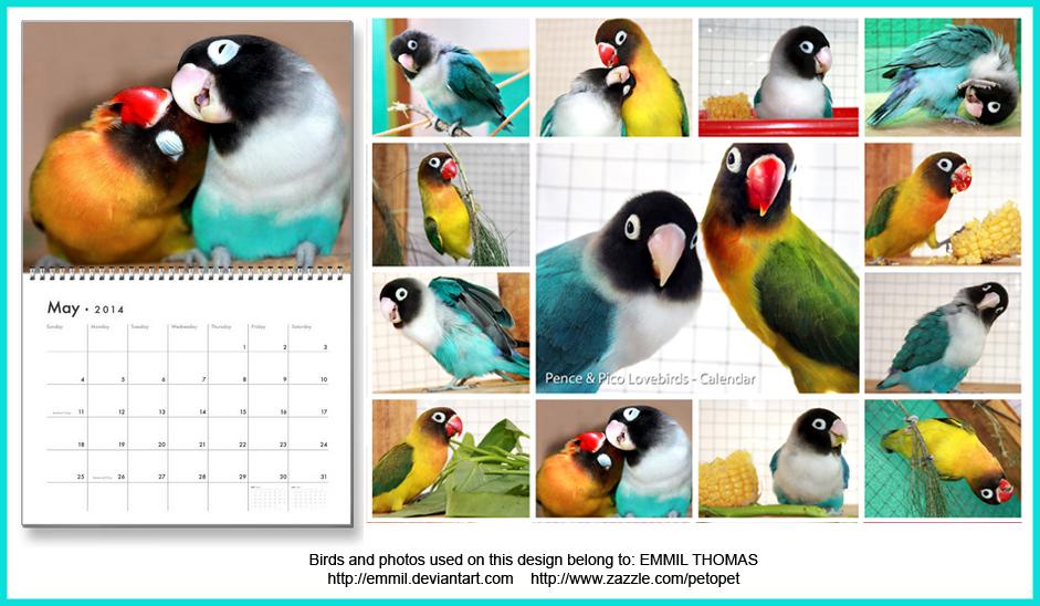 Lovebird calendar, Pence - Pico series by emmil