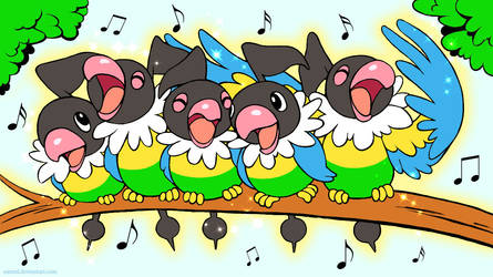 Singing Chatots wallpaper