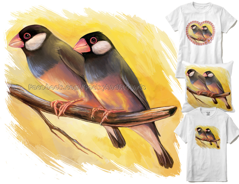 Java sparrows by emmil