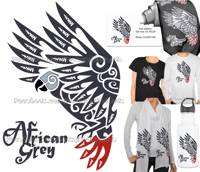 f2ad4b27710a6 For Sale: African grey parrot tribal tattoo by emmil on DeviantArt