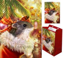 Christmas hamster in a sock