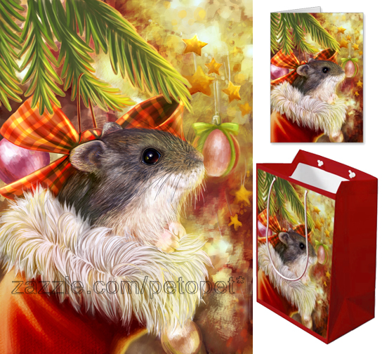 Christmas hamster in a sock by emmil