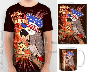 4th of Juli bird USA independence day by emmil