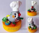 Gomez, the Zebra finch chef