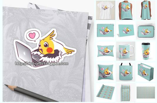 Nerdy cockatiel Macbook parrot gifts