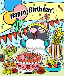Pocky lovebird's birthday party by emmil