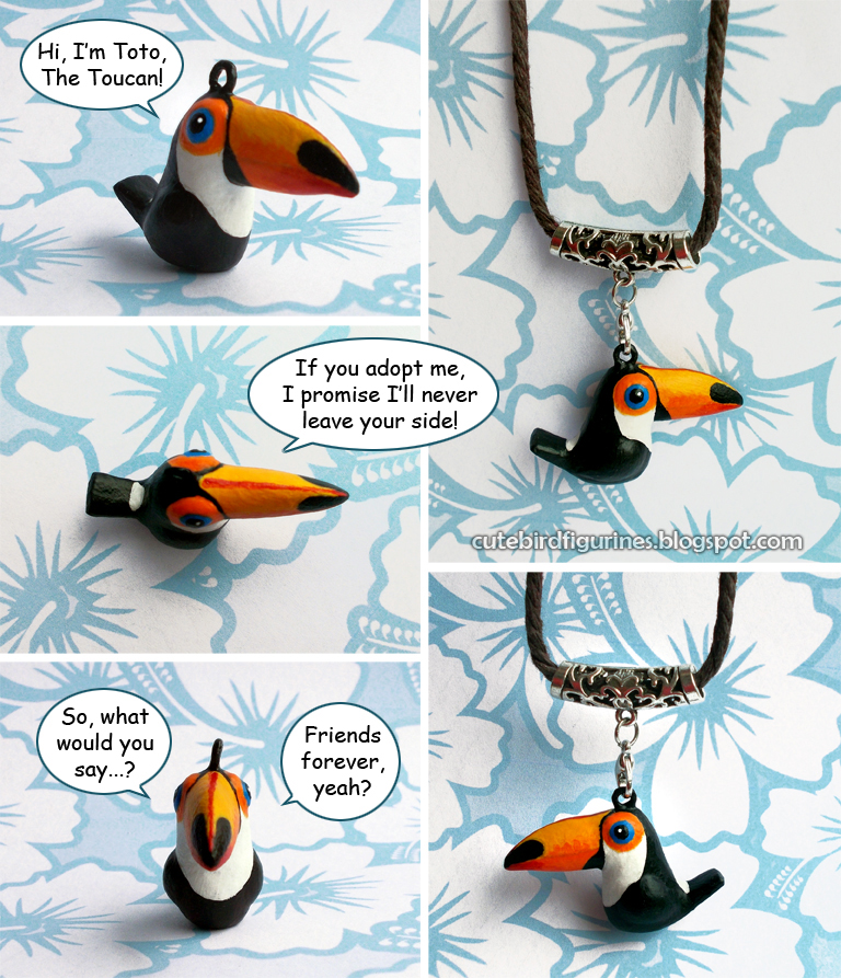 For Sale: Toto The Toucan bird charm pendant by emmil on DeviantArt