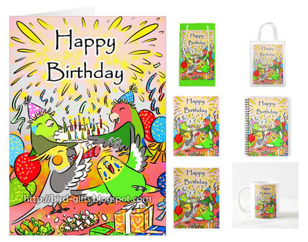 Little parrots happy birthday party