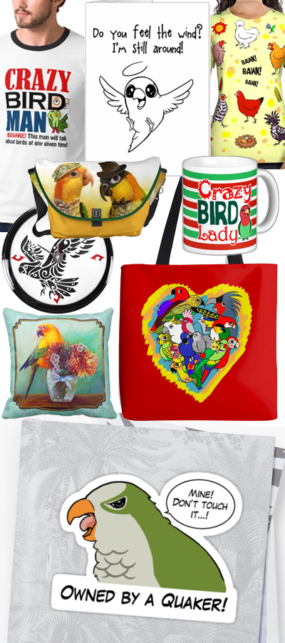 Unique bird parrot themed gift ideas for bird parents