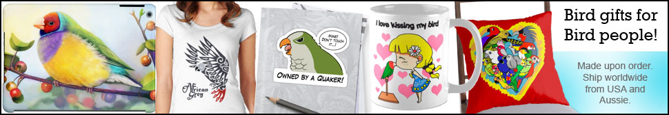 Thousands of high quality unique pet bird and parrot gift ideas available on my store!