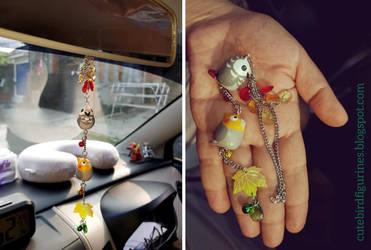 Rear mirror car afgrey cockatiel charm by emmil