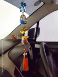 Rear-view mirror car budgie cockatiel charm by emmil
