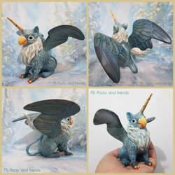 OOAK Parrot griffin sculpture