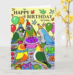 Conure Caique Senegal Parrot Happy birthday cards