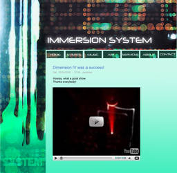 Immersion System site design