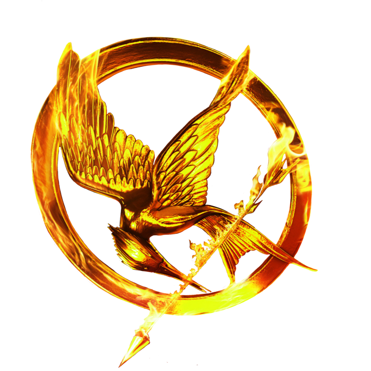 the hunger games movie logo ring by allheartsgoboom on
