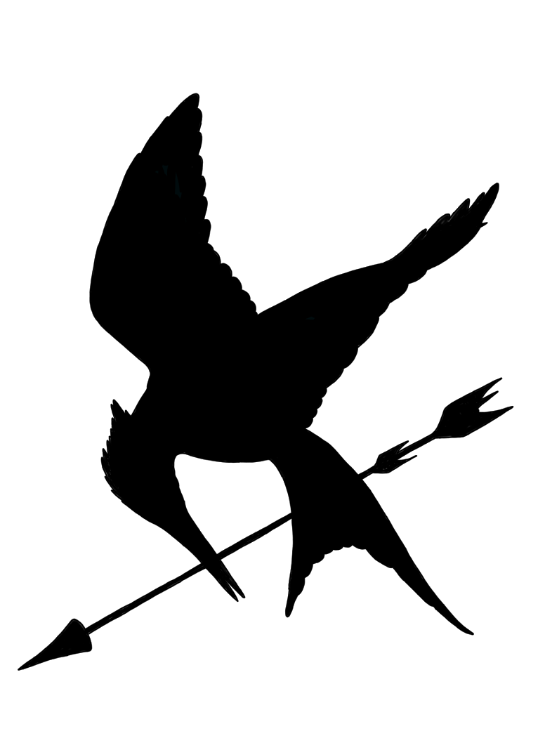 Mockingjay Logo Black And White Drawings of Arrows Tum...