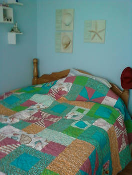 Ocean Pebbles Quilt Finished