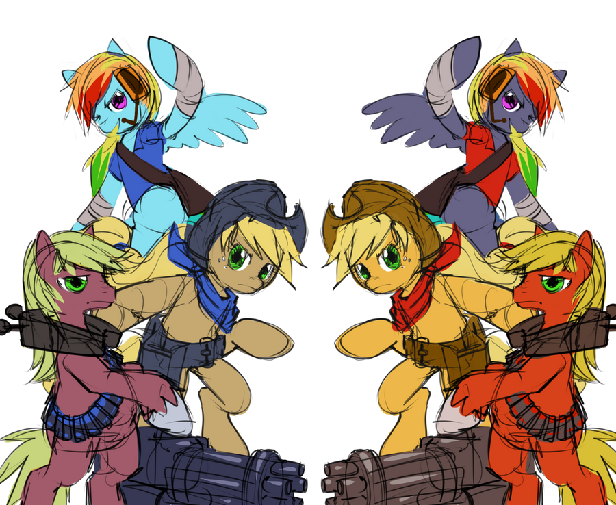 mlp tf2 colors 1 by stupjam
