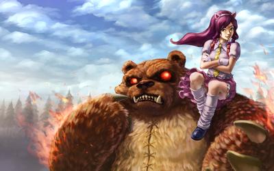 Annie Rides on Tibber's Shoulder by stupjam