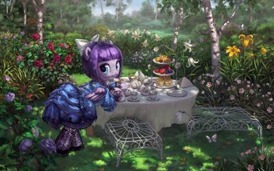 Lulu Belle Prepares Tea by stupjam