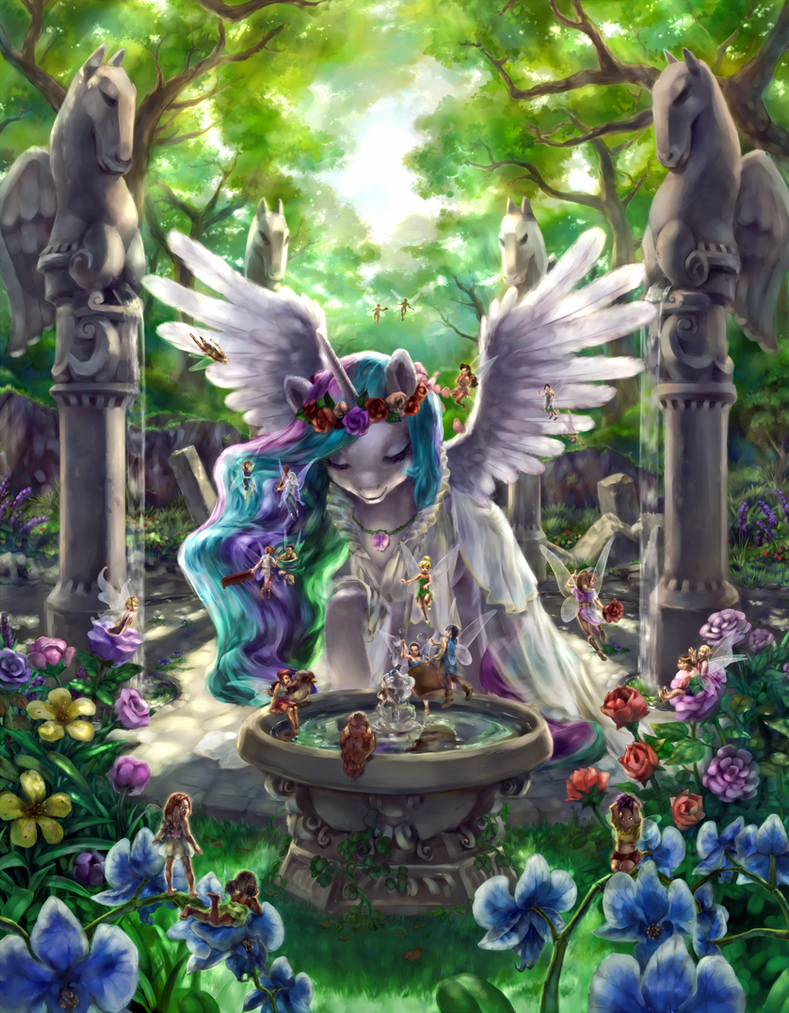 Celestia and the Fairies by stupjam