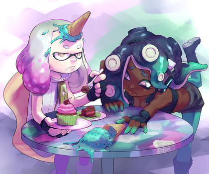 Splatfest Cake Ice Cream
