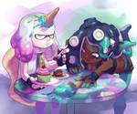 Splatfest Cake Ice Cream