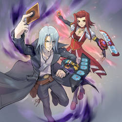 Psychic Duelists Kalin and Akiza