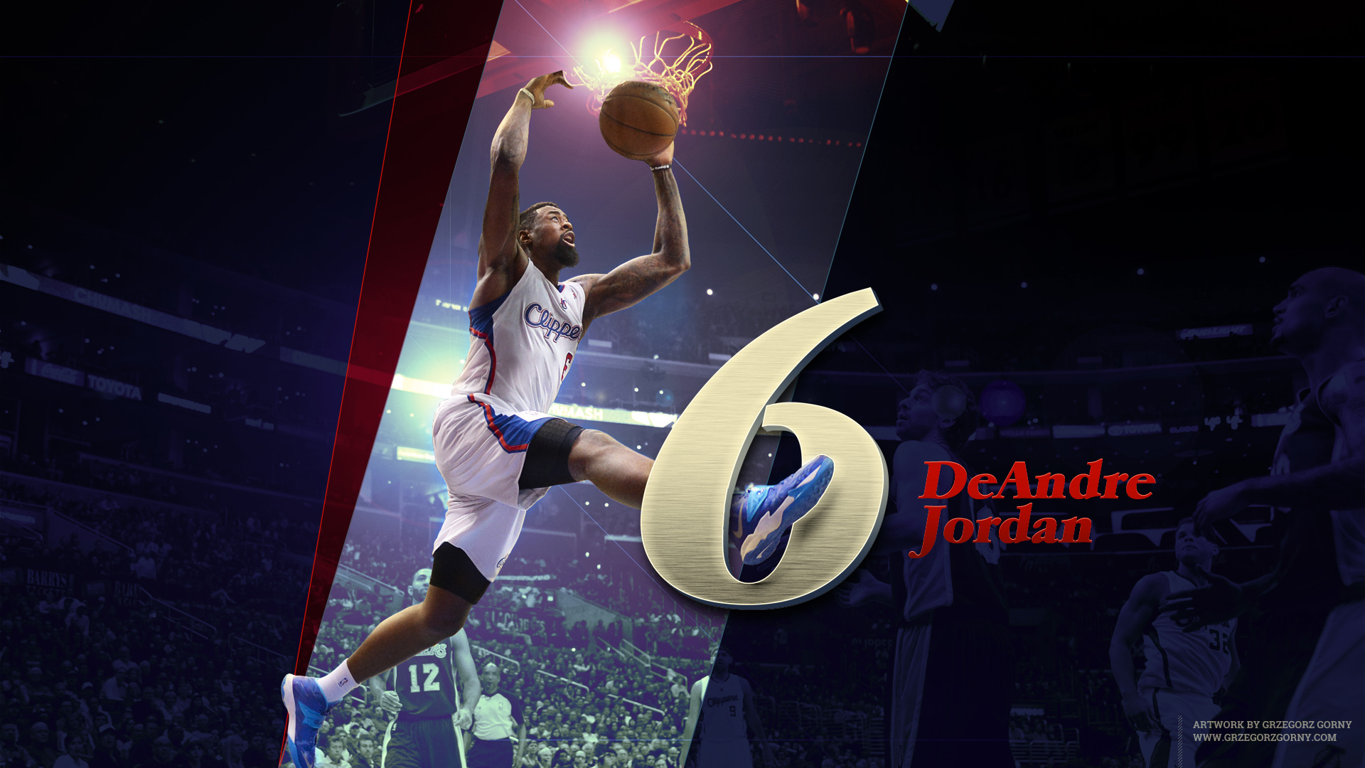 deandre jordan wallpaper by trzygie on deviantart
