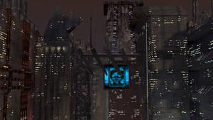 Sci-fi Cityscape WIP 1