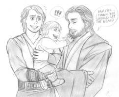 Anakin and son - StarWarsAU sketch by KatyTorres