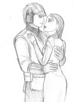 SW The Clone Wars - Anakin and Padme by KatyTorres