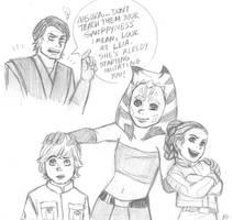 Star Wars sketch - Aunthsoka by KatyTorres