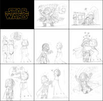 SW - Darth Vader X Queen of Naboo sketches 3 by KatyTorres