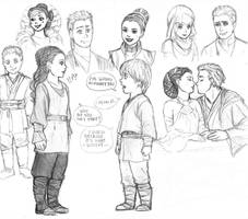 SW sketch - Anakin and Padme by KatyTorres